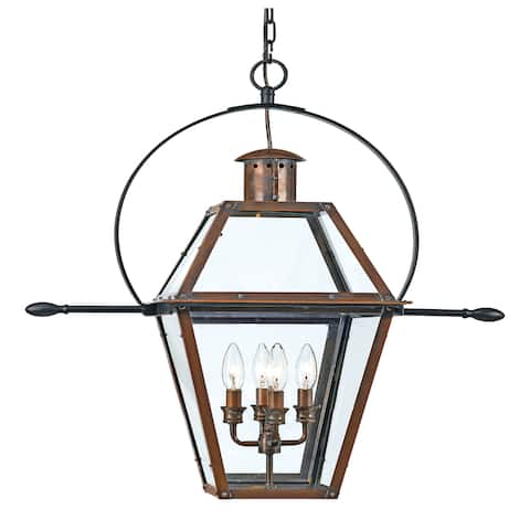 Copper Grove Kran 4-light Aged Copper Outdoor Hanging Lantern