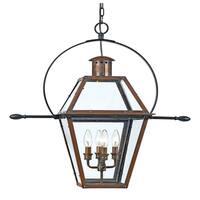 Quoizel Rue De Royal 4-light Aged Copper Outdoor Hanging Lantern