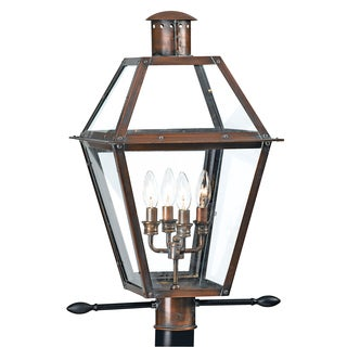 Rue De Royal 4-light Aged Copper Outdoor Post Lantern