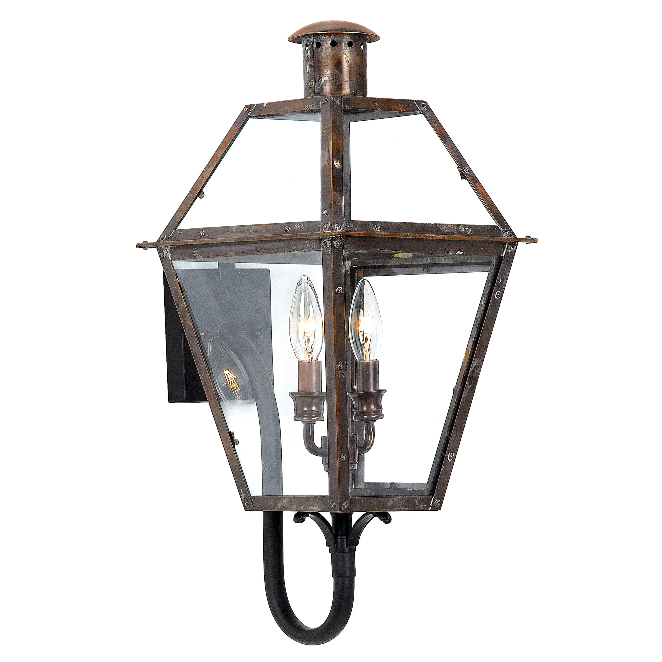 Copper Grove Kran 2 Light Aged Copper Outdoor Wall Lantern On Sale Overstock 8463706