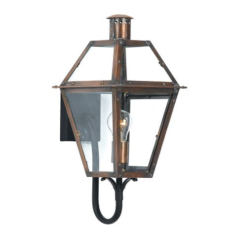 Copper Grove Kran 1-light Aged Copper Outdoor Wall Sconce