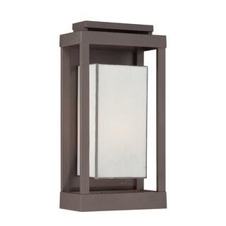 Quoizel Powell 1-light Western Bronze Outdoor Wall Lantern