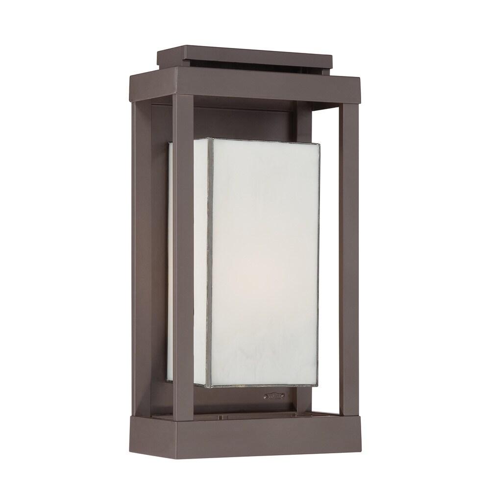 Strick Bolton Moigniez 1 Light Bronze Outdoor Wall Lantern