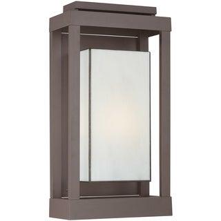 Quoizel Powell 1-light Western-bronze Aluminum Outdoor Wall Lantern