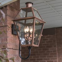 Rue De Royal 4-light Outdoor Aged Copper Wall Sconce
