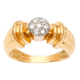 Pre-owned 14K Yellow Gold 1/10ct TDW Estate Pinky Ring (H-I, SI1-SI2)