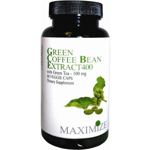Maximize Green Coffee Bean Extract 400 Dietary Supplement (60 Veggie Caps)