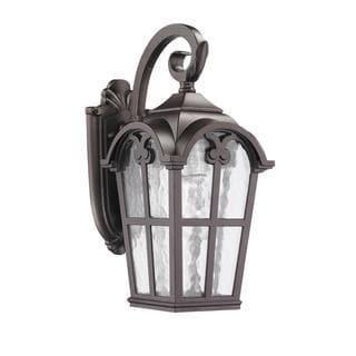 corrosion resistant transitional black one light outdoor. Black Bedroom Furniture Sets. Home Design Ideas