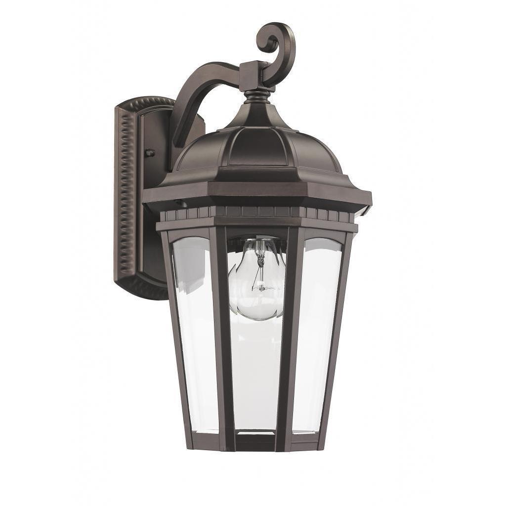 Chloe Transitional 1-light Bronze Outdoor Wall Light Fixt...
