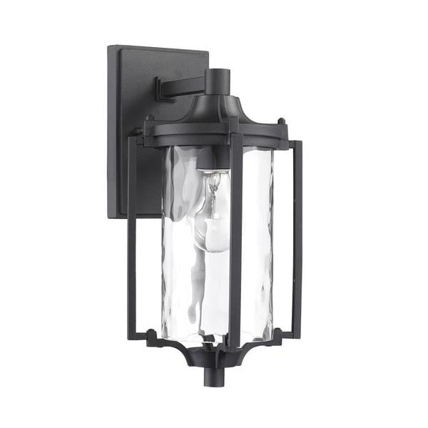Chloe transitional 1 light black outdoor wall light fixture free chloe transitional 1 light black outdoor wall light fixture aloadofball Images