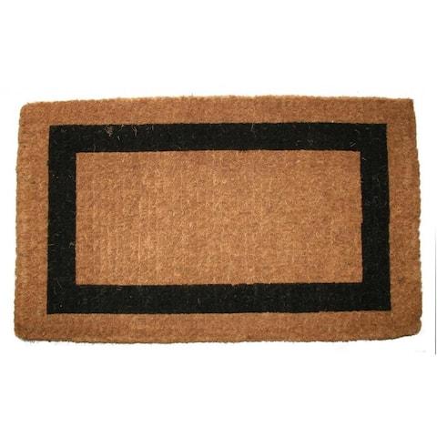 Outdoor Coconut Fiber Single Border Door Mat (4' x 2') - 4' x 2'