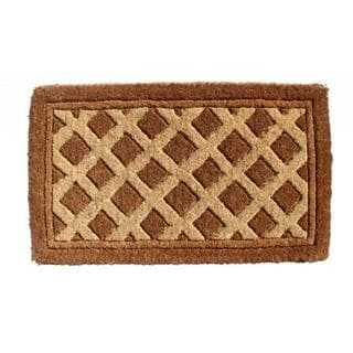 Outdoor Coconut Fiber Diamonds Door Mat (2'6 x 1'6)