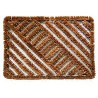 Outdoor Coconut Fiber Diagonal Door Mat (2' x 1'4)