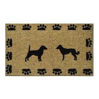 Outdoor Coconut Fiber Dog with Paws Door Mat (2'6 x 1'6)
