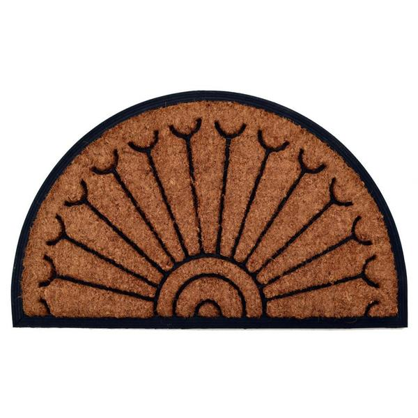 Outdoor Coconut Fiber Peacock Door Mat (2'6 x 1'6). Opens flyout.