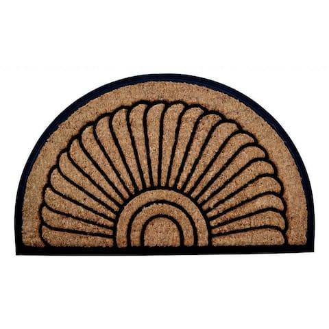 Outdoor Coconut Fiber 'Sunrise' Door Mat (2'6 x 1'6)