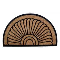 Outdoor Coconut Fiber 'Sunrise' Door Mat (2'6 x 1'6)