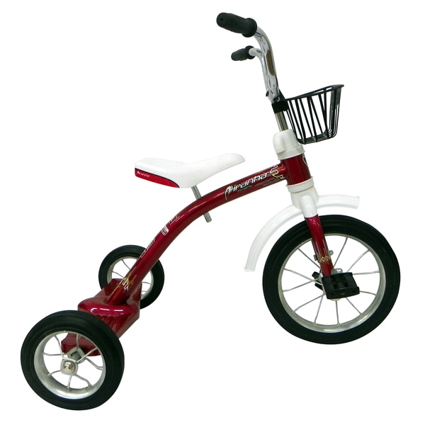 Piranha Kid's Red Firefly Classic Tricycle with 12-inch Front Wheel