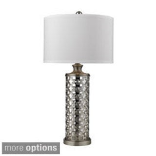 1-light Metal/ Clear Glass Table Lamp