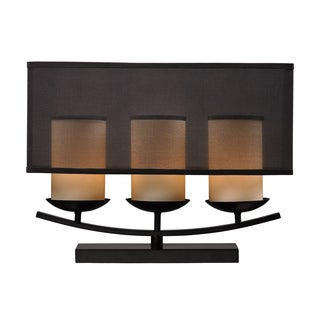 3-light Bronze-acented Candle Table Lamp