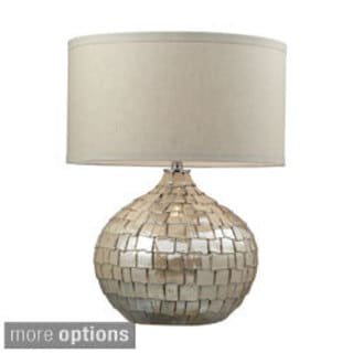 Canaan 1-light Cream Pearl Ceramic Table Lamp
