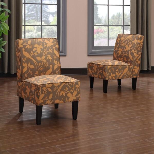 Shop Portfolio Wylie Armless Chairs In An Orange Bird