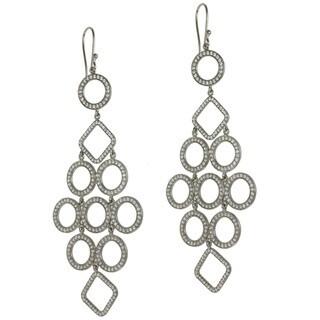 Sterling Silver Cubic Zirconia Dangle Earrings