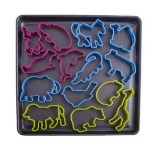 Entenmann's Bakeware Set Baking Tray with Animal Cookie Cutters