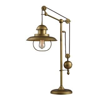 Farmhouse 1-light Antique Brass Table Lamp