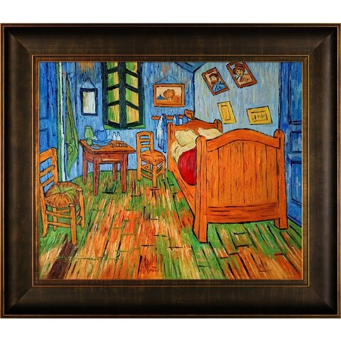 Vincent Van Gogh 'Bedroom At Arles' Hand Painted Framed Canvas Art