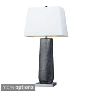 Milan 1-Light Ceramic Black Pearl and Chrome Table Lamp