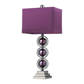 Alva 1-light Purple/Black Nickel Sphere Table Lamp