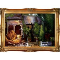 George Wesley Bellows 'Old Farmyard, Toodleums' Hand Painted Framed Canvas Art