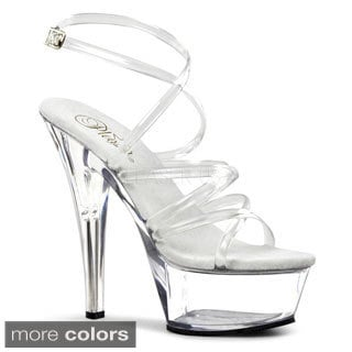 Pleaser Women's 'Kiss-206' Strappy Platform Heels