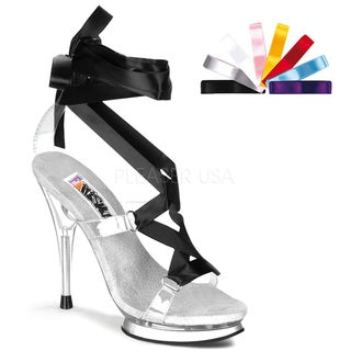 Funtasma Women's 'Fairy-08' Clear Lace-up Heels with Interchangeable Laces