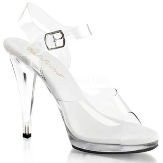 Pleaser Women's 'Flair-408' 4 1/2-inch Stiletto Heel Ankle Strap Platform Sandal