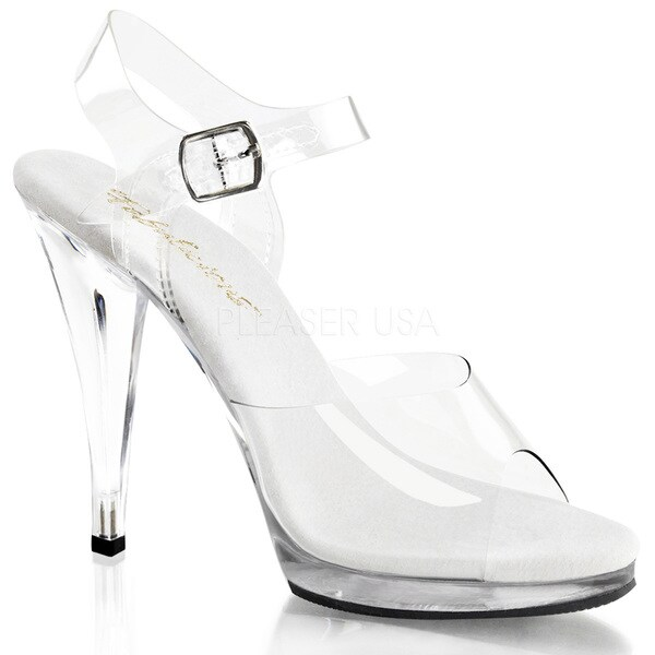 db15334eb8 Shop Pleaser Women's 'Flair-408' 4 1/2-inch Stiletto Heel Ankle ...