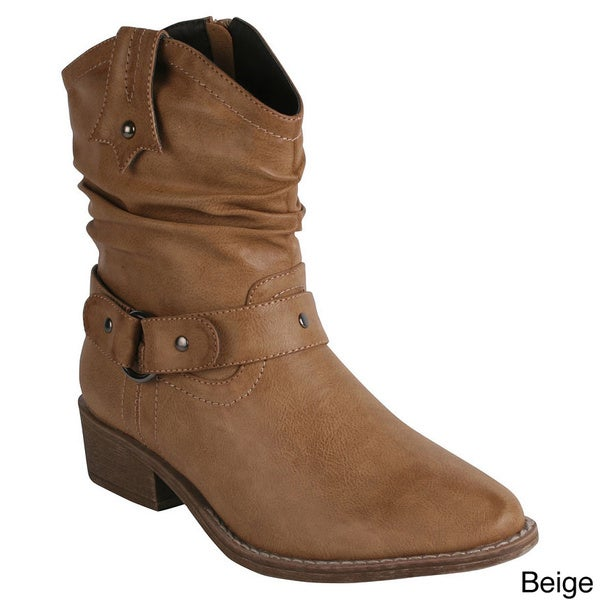 Reneeze Women's 'Gift-01' Ankle Riding Boots