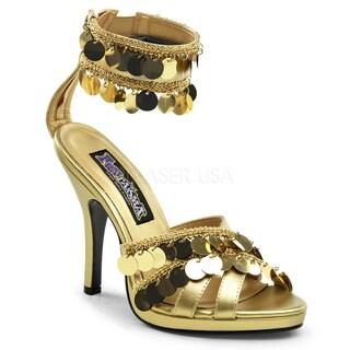 Funtasma Women's 'Gypsy-03' Gold Charm Heels