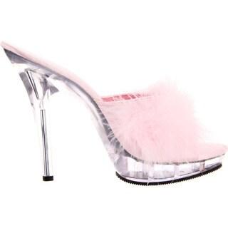 Pleaser 'Lip-101-8' Women's 5-inch Marabou Slipper