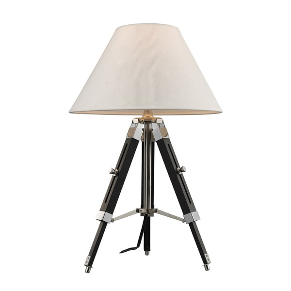 Studio 1-light Chrome and Black Table Lamp