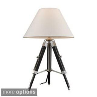 Studio 1-light Chrome and Black Table Lamp