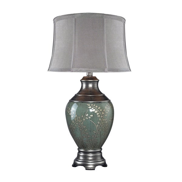 Westvale 1-light Green Tone Hand-painted Ceramic Table Lamp