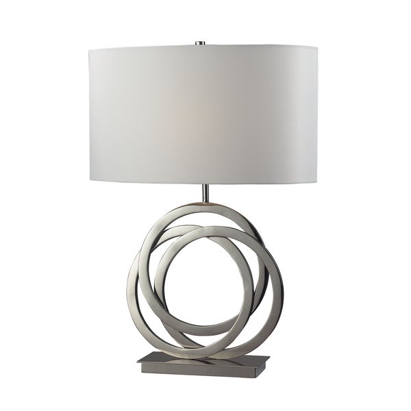 Trinity 1-light Polished Nickel Table Lamp