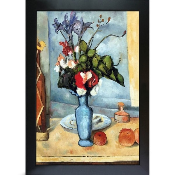 Shop Paul Cezanne Le Vase Bleu Hand Painted Framed Canvas Art On