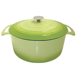 Le Cuistot Vieille France Enameled Cast-iron Round Two-tone Light Green Casserole