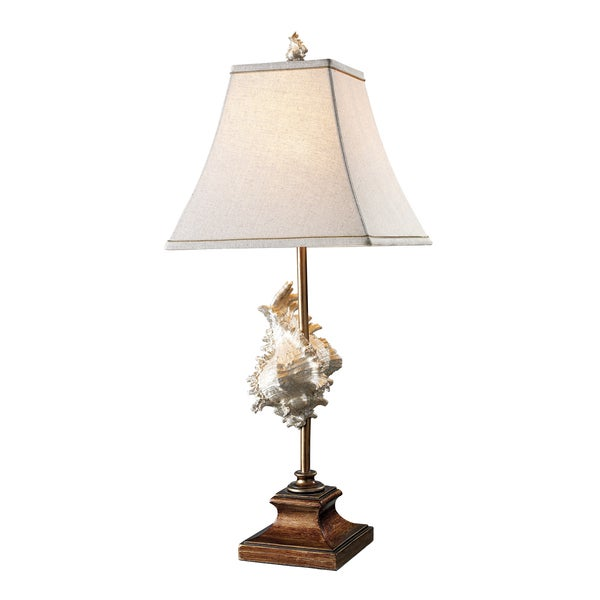 Delray 1-Light Conch Shell and Bronze Table Lamp