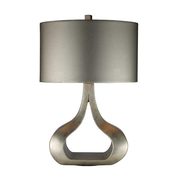 Carolina 1-light Silver Leaf Table Lamp