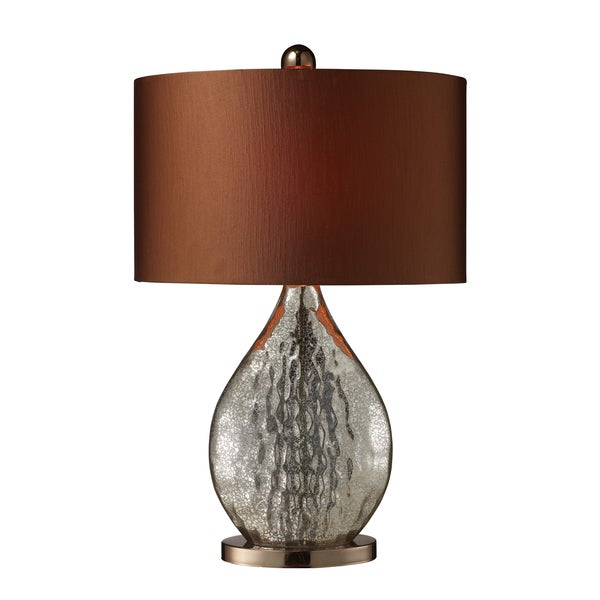 Sovereign 1-light Antique Mercury/ Coffee Table Lamp