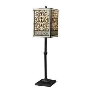 Adamson 1-light Tiffany-style Bronze Table Lamp
